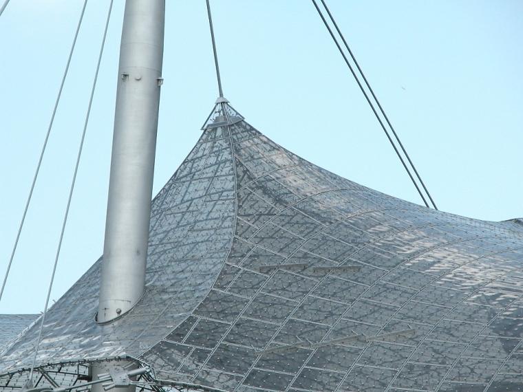 慕尼黑奥林匹克体育场外部局部实-慕尼黑奥林匹克体育场第8张图片