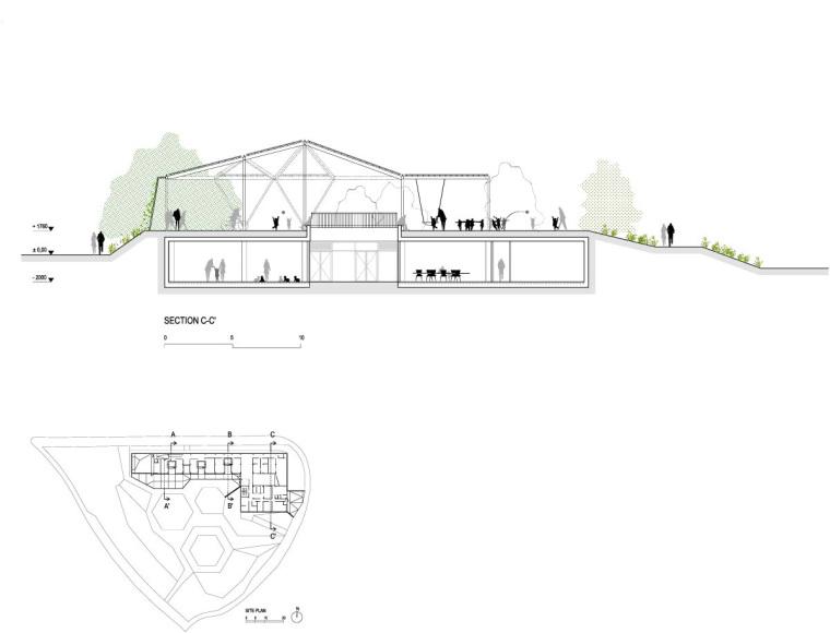 西班牙生态城广场剖面图和平面图-西班牙生态城广场第17张图片