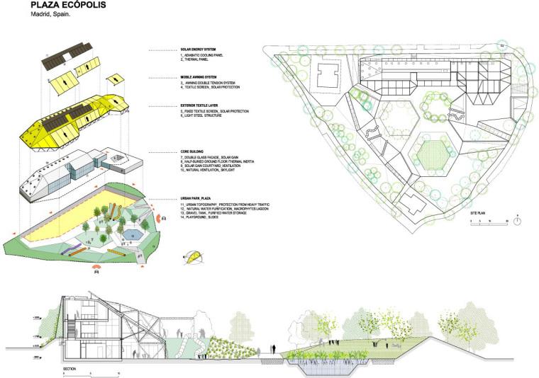 西班牙生态城广场平面图和分析图-西班牙生态城广场第18张图片