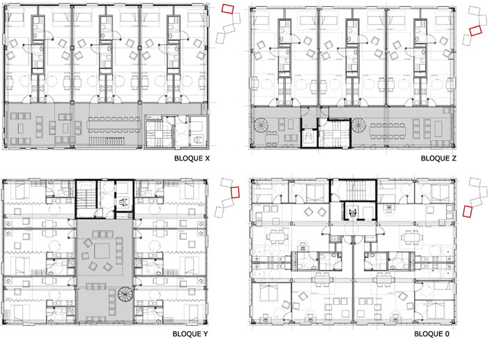西班牙瓦伦西亚住宅综合体平面图-西班牙瓦伦西亚住宅综合体第12张图片