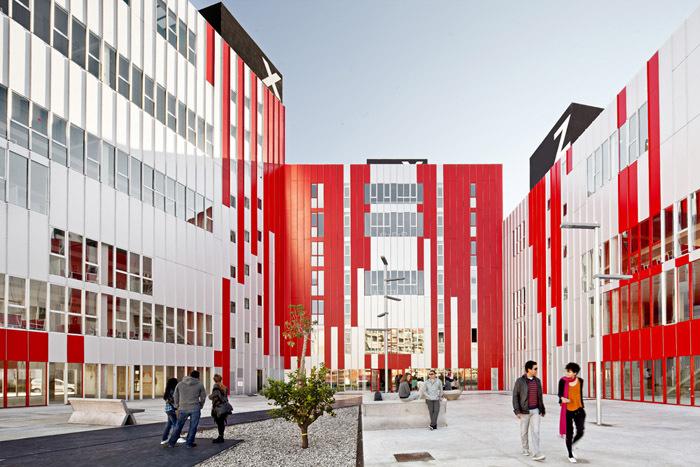 西班牙瓦伦西亚住宅综合体外部实-西班牙瓦伦西亚住宅综合体第4张图片