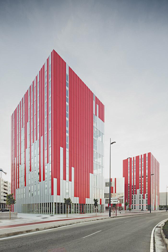 西班牙瓦伦西亚住宅综合体外部实-西班牙瓦伦西亚住宅综合体第3张图片