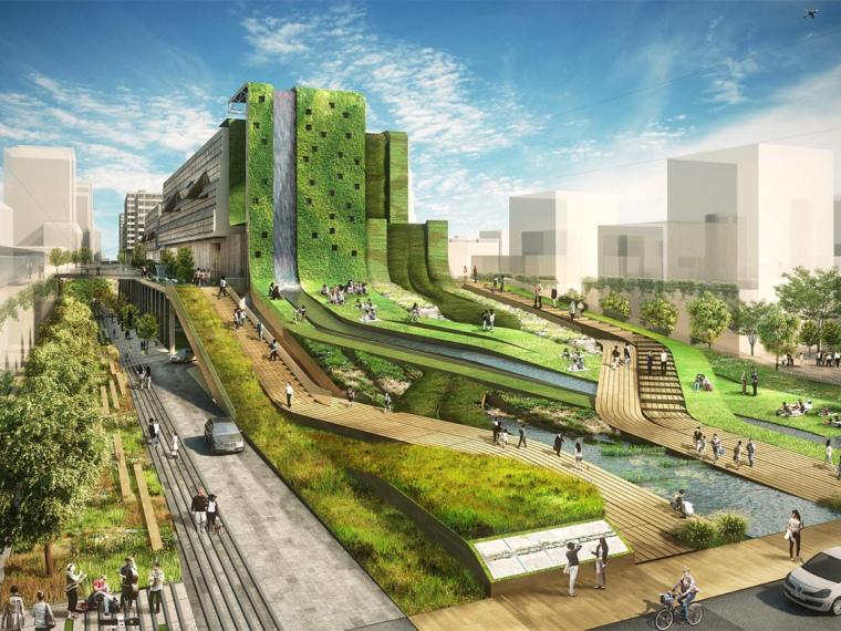 韓國Seun城市綜合體步道