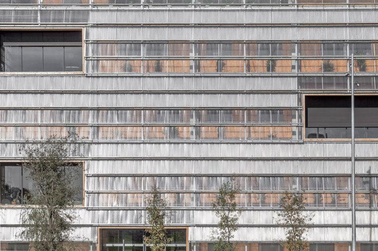 西班牙ICTA-ICP科研大楼外部局部-西班牙ICTA-ICP科研大楼第4张图片