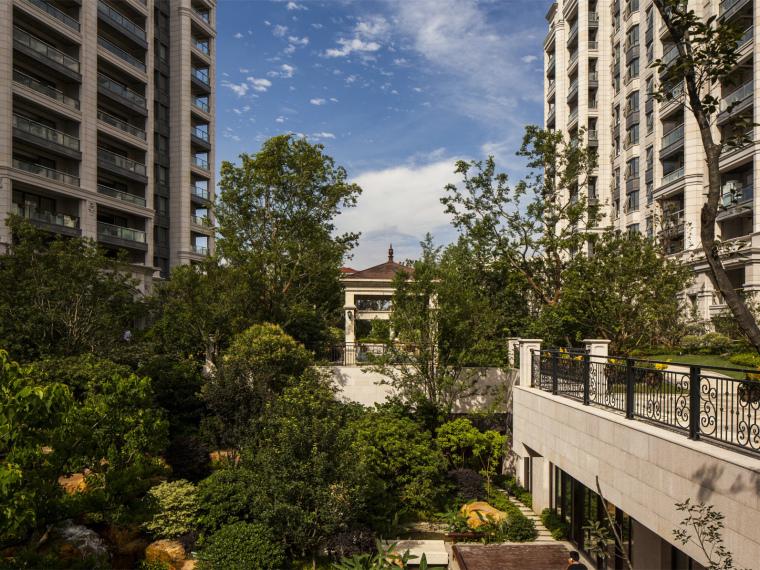 上海云锦东方法式风格住宅区景观