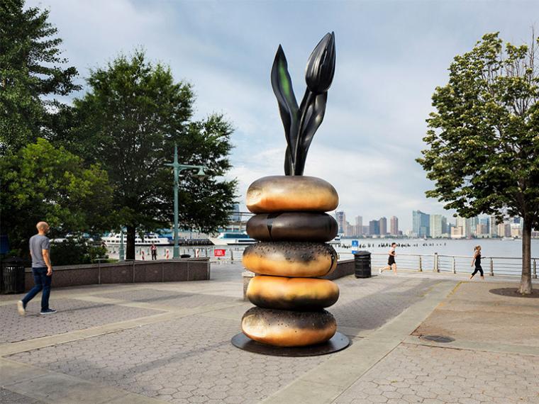 美国纽约百吉饼状雕塑装置