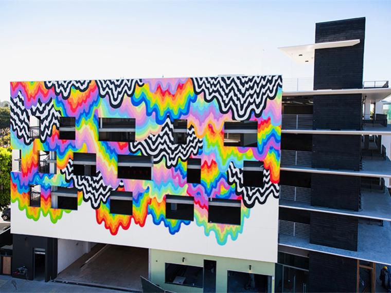 美国彩色壁画