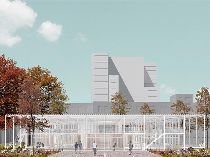 德国建筑艺术学校工作室景观改造第1张图片
