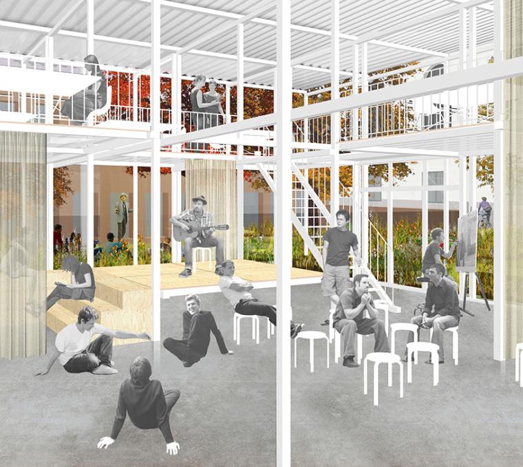 德国建筑艺术学校工作室景观改造-德国建筑艺术学校工作室景观改造第2张图片