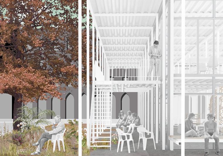 德国建筑艺术学校工作室景观改造-德国建筑艺术学校工作室景观改造第3张图片