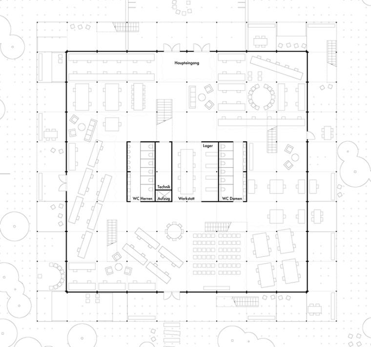 德国建筑艺术学校工作室景观改造-德国建筑艺术学校工作室景观改造第5张图片