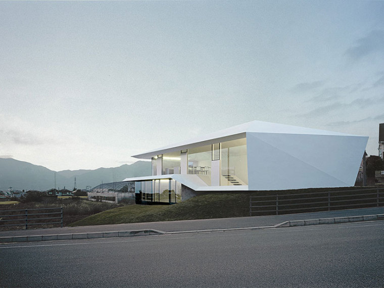 日本白色混凝土的A别墅