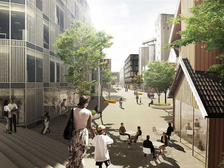 挪威Vestby镇城市中心规划
