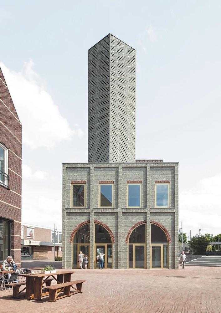 荷兰新卑尔根地标塔楼