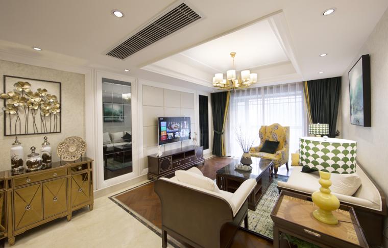 现代中式与法式混搭风格住宅