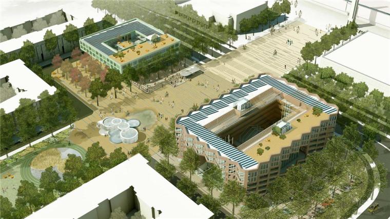 Amster奥林匹克体育公园和广场景-Amster奥林匹克体育公园和广场景观第4张图片