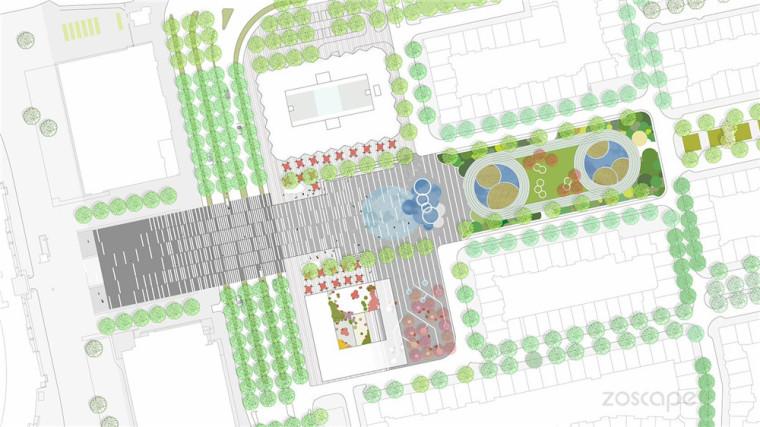 Amster奥林匹克体育公园和广场景-Amster奥林匹克体育公园和广场景观第7张图片