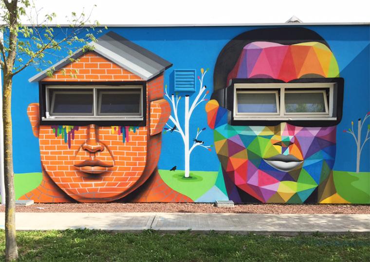 意大利arcugnano幼儿园外墙壁画