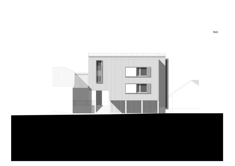 法国勒鲁热综合楼立面图-法国勒鲁热综合楼第31张图片
