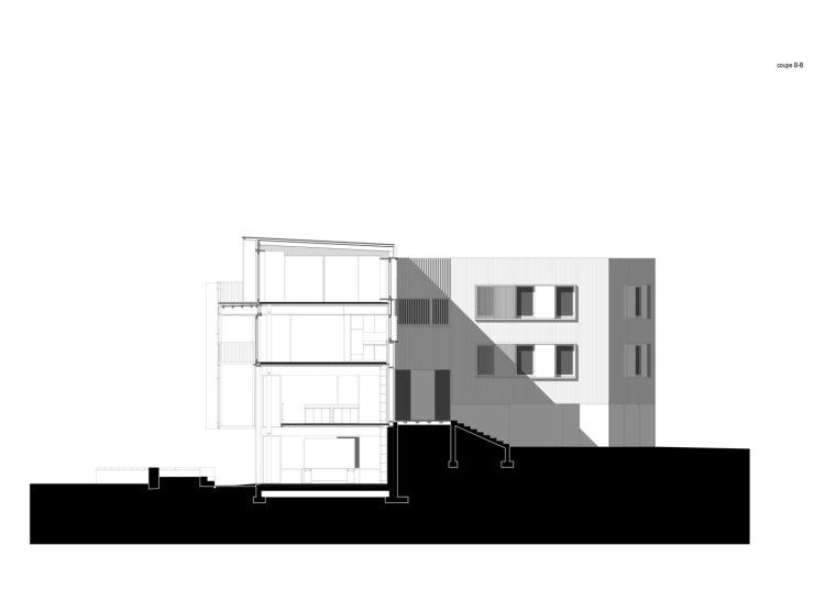 法国勒鲁热综合楼剖面图-法国勒鲁热综合楼第33张图片