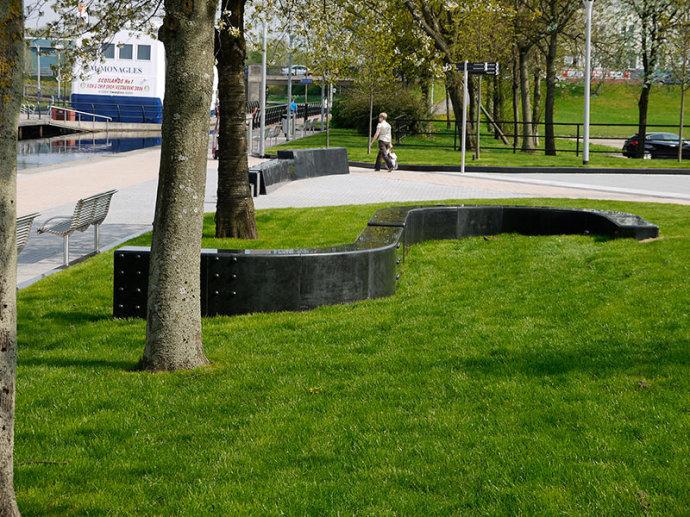 英国South Canal滨水景观外部实景-英国South Canal滨水景观第4张图片