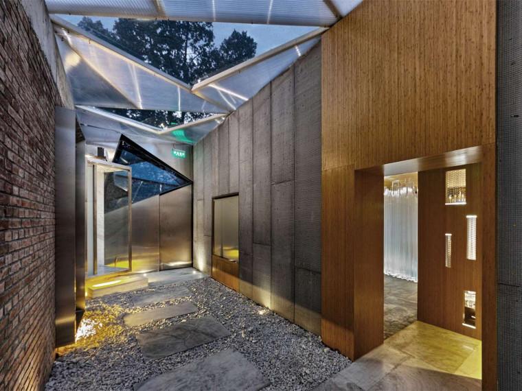 北京紫禁城红墙茶室