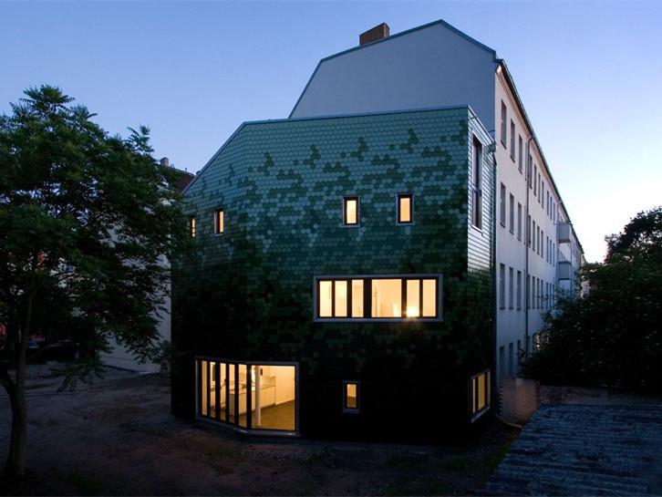 德国绿色瓷砖立面住宅