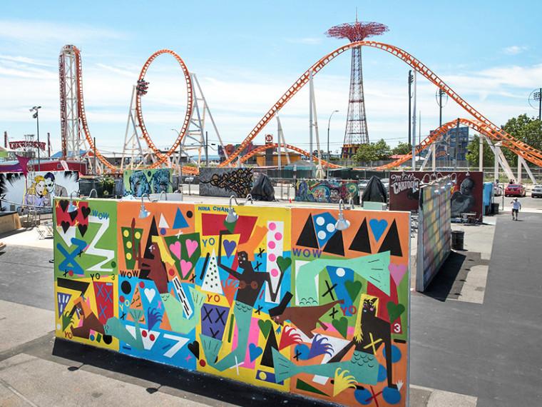 美国布鲁克林区艺术墙街头艺术装置