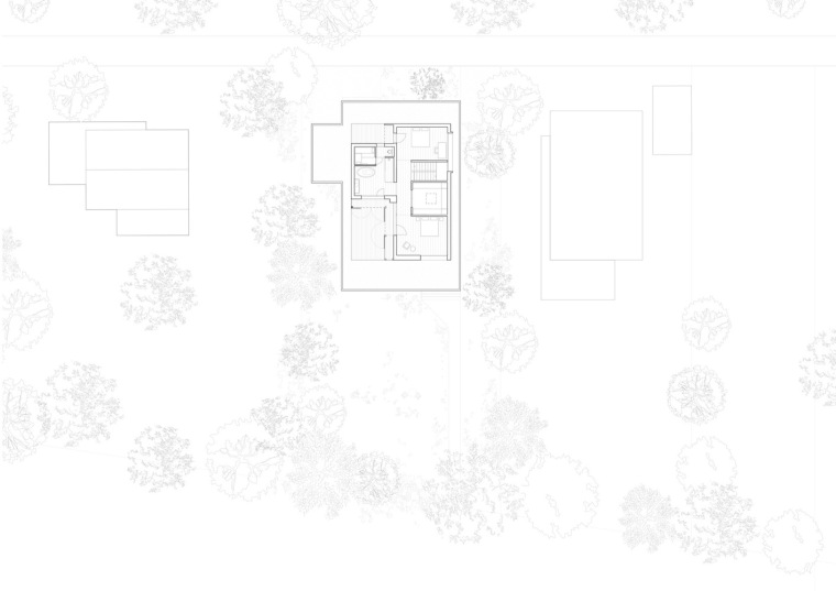 瑞士比尔湖住宅平面图-瑞士比尔湖住宅第10张图片