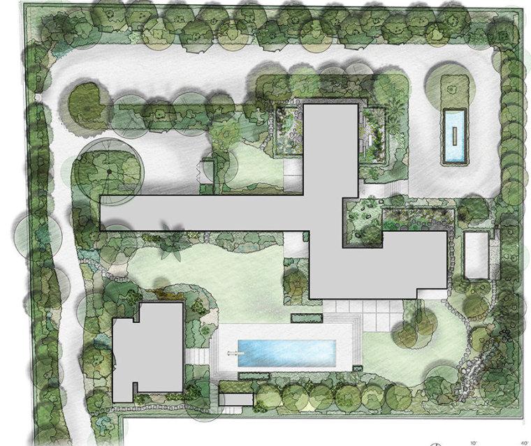 美国Kronish住宅景观平面图-美国Kronish住宅景观第12张图片