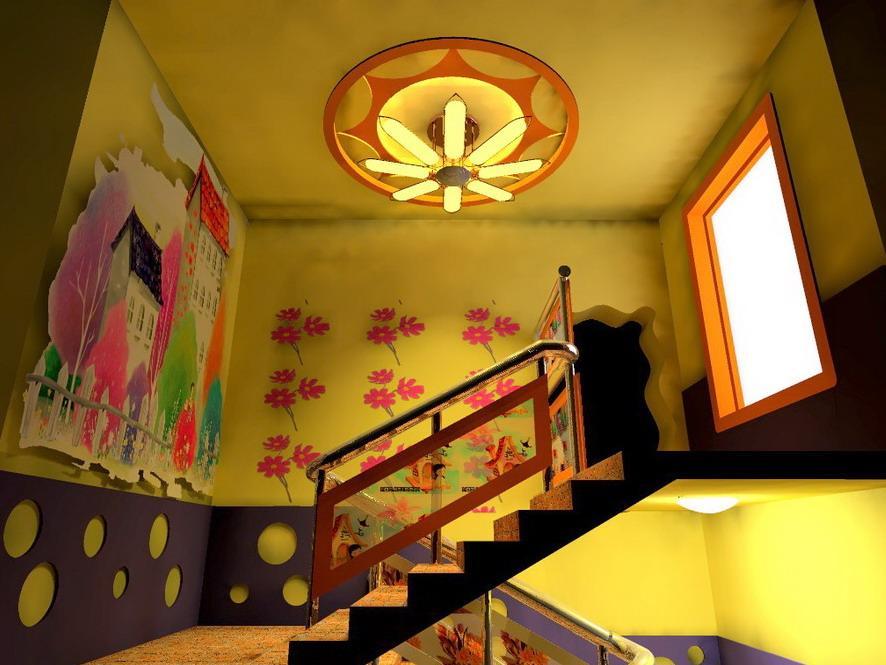 星艺幼儿园楼梯间