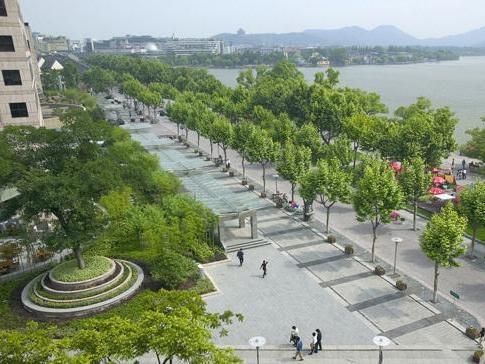 杭州湖滨湖泊重建