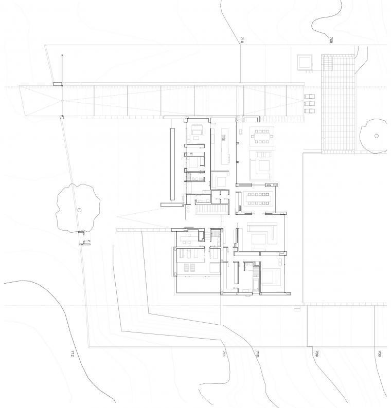 底层平面图 ground floor plan-108住宅楼第24张图片