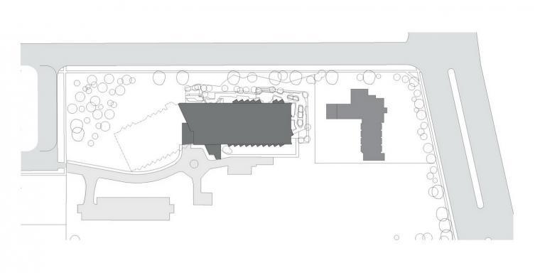 位置平面图 site plan-莫宁顿中心(养老院)第11张图片
