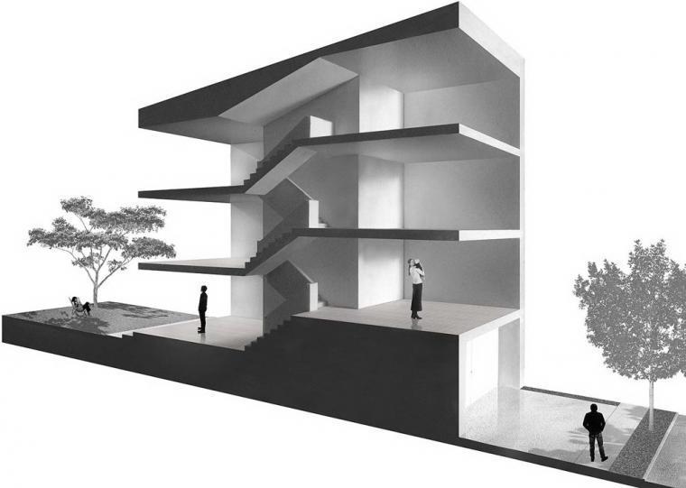 剖面图02 section02-Z住宅第11张图片