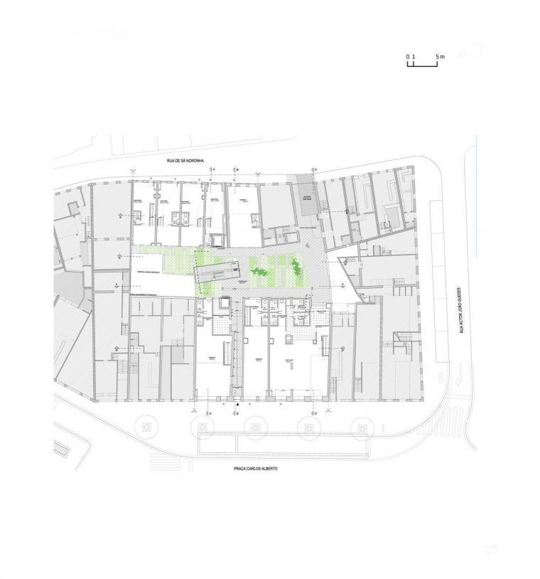 首层平面图 ground floor plan-路西塔尼亚阁楼第20张图片