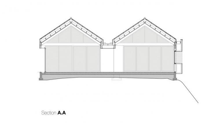 剖面图AA SectionsAA-宝云岛住宅第23张图片