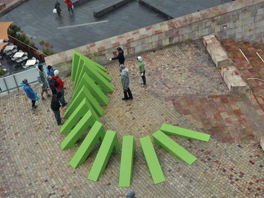 莫比乌斯静态雕塑
