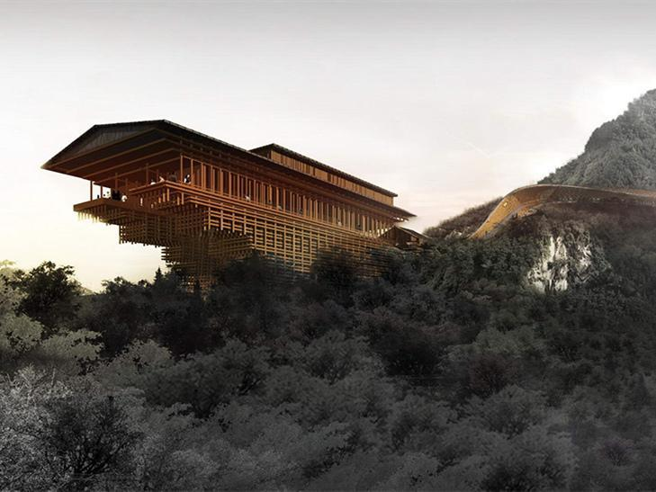 陕西少华山国家森林公园潜龙寺景区
