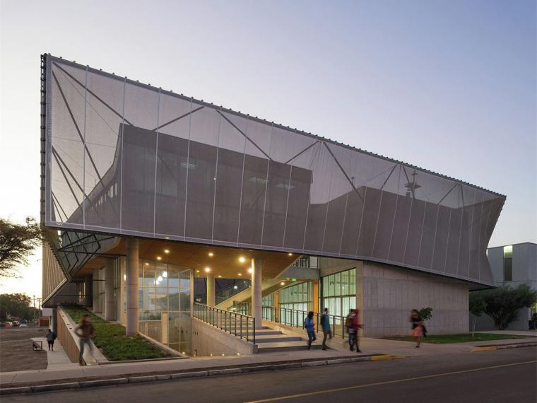 U型大学教学楼设计资料下载-智利Tarpacá大学物理系教学楼
