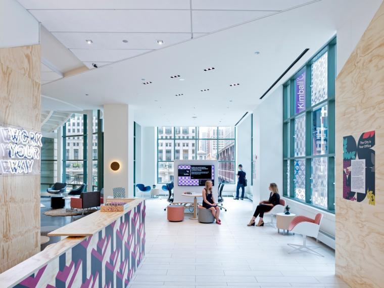 美国Kimbal办公家具公司展厅