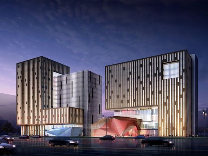 大同新华书店与中国移动办公楼