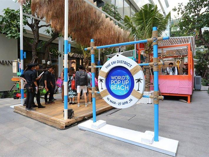 泰国商场内休闲空间的改造
