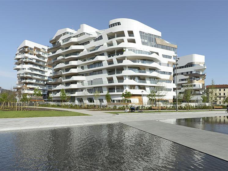米兰新兴住宅公寓楼群