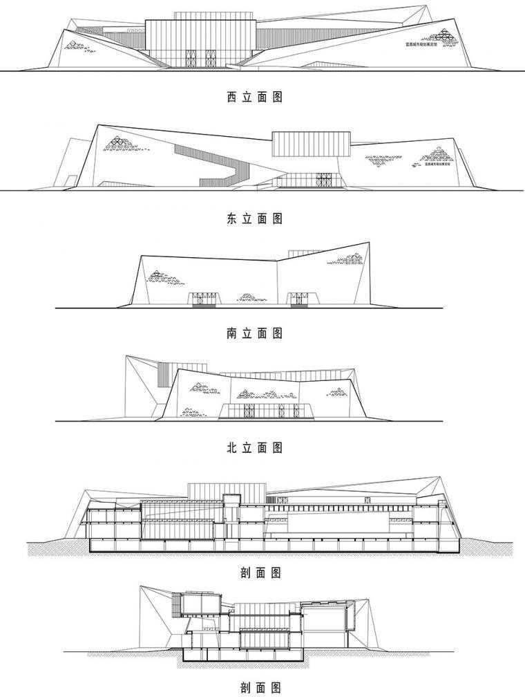 宜昌规划展览馆立面和剖面图-宜昌规划展览馆第27张图片