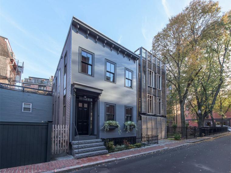 波士顿两种立面风格的住宅