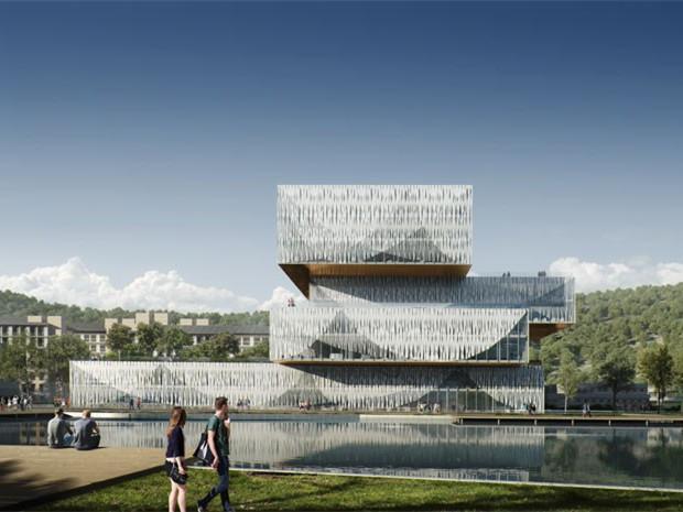 丹麦学生中心和图书馆第1张图片