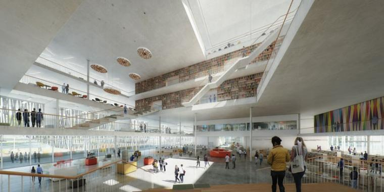 丹麦学生中心和图书馆效果图-丹麦学生中心和图书馆第2张图片