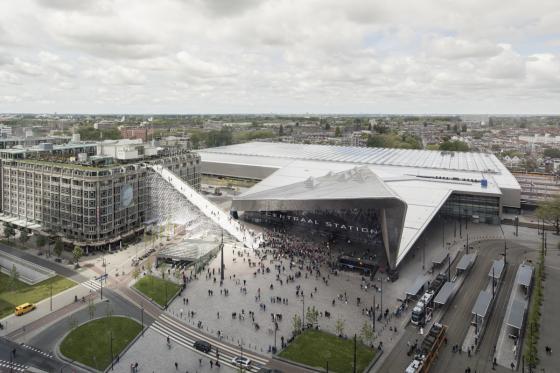 荷兰Rotterdam市中心纪念式阶梯装-荷兰Rotterdam市中心纪念式阶梯装置第2张图片