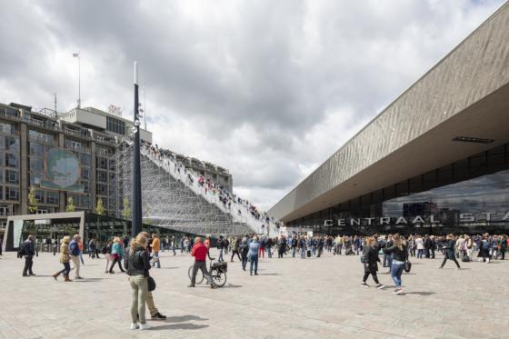 荷兰Rotterdam市中心纪念式阶梯装-荷兰Rotterdam市中心纪念式阶梯装置第7张图片